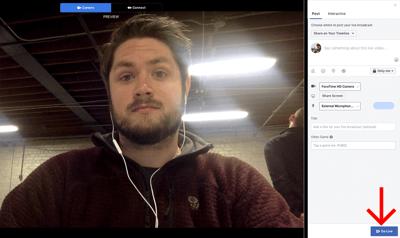 Adding a description to your Facebook Live video