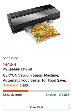 example of amazon deal of the day showing scarcity