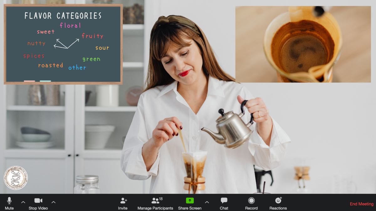Engaging virtual coffee tasting on zoom with Switcher Studio