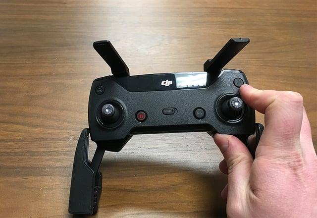 Turning on DJI Spark Controller