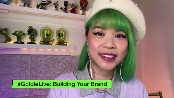 Goldie Chan streaming on LinkedIn Live