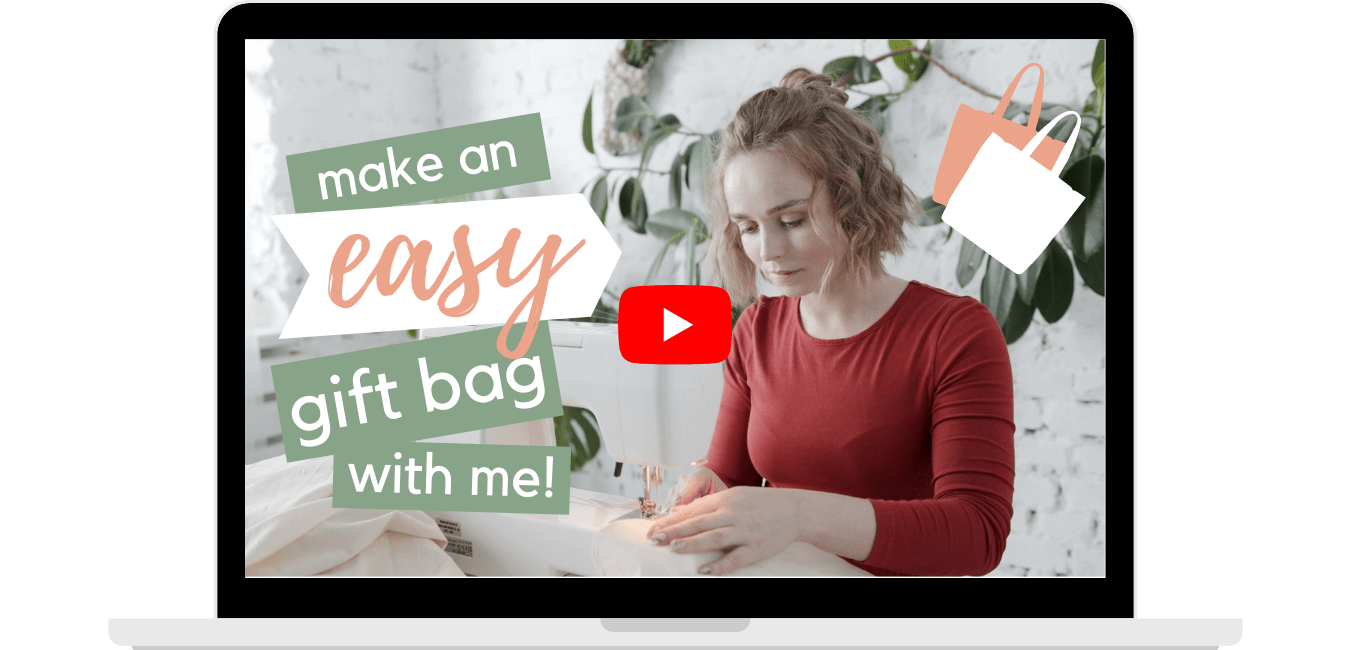 YouTube video thumbnail make a gift bag with me