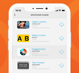 Switcher Cloud storage — assets for livestreaming