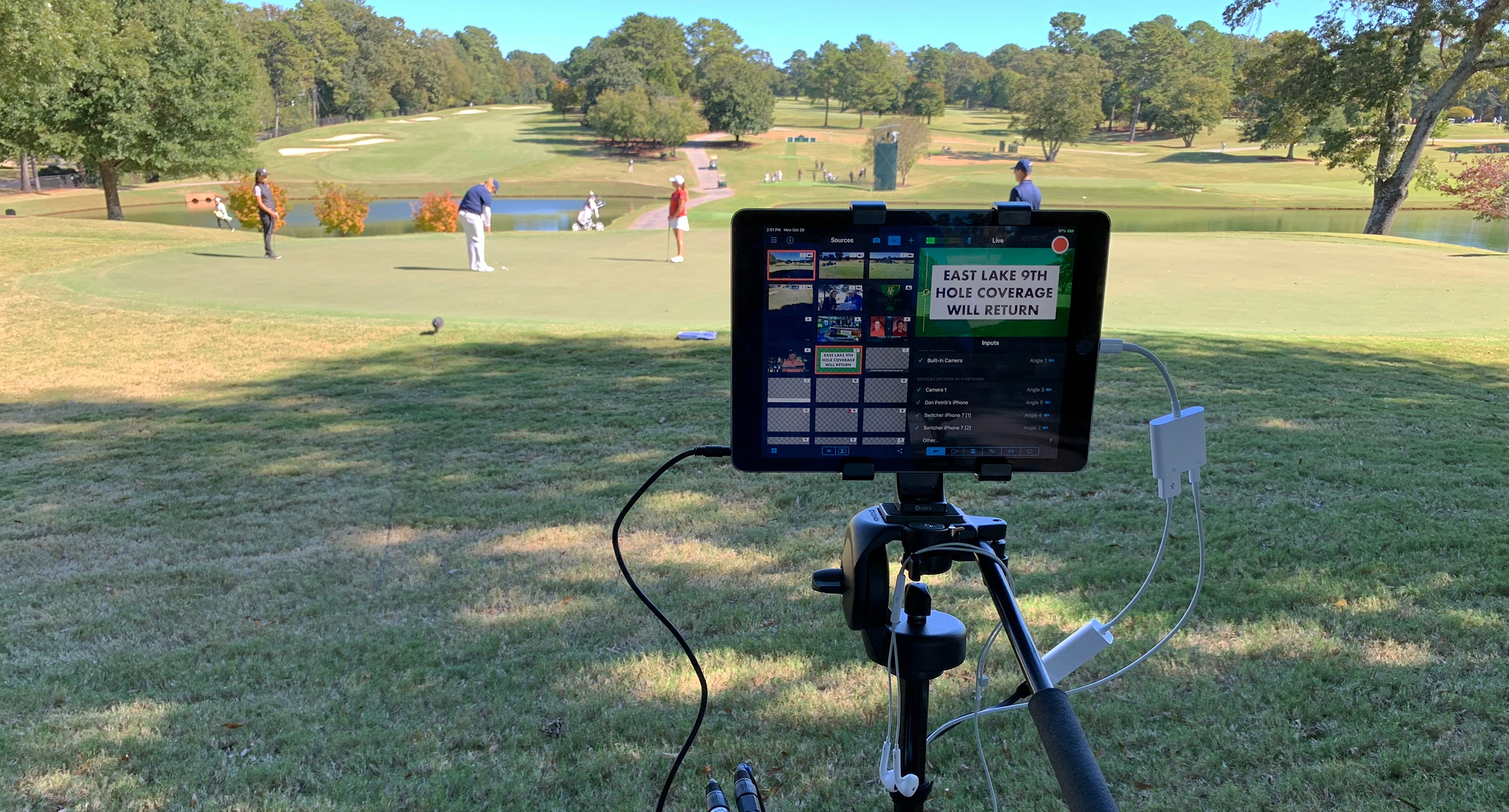 Golf Channel using Switcher Studio