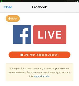 Linking Facebook to Switcher