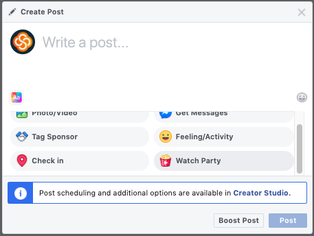 How to create a Facebook Watch Party
