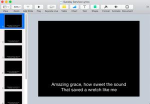 Presentation software used for livestreaming