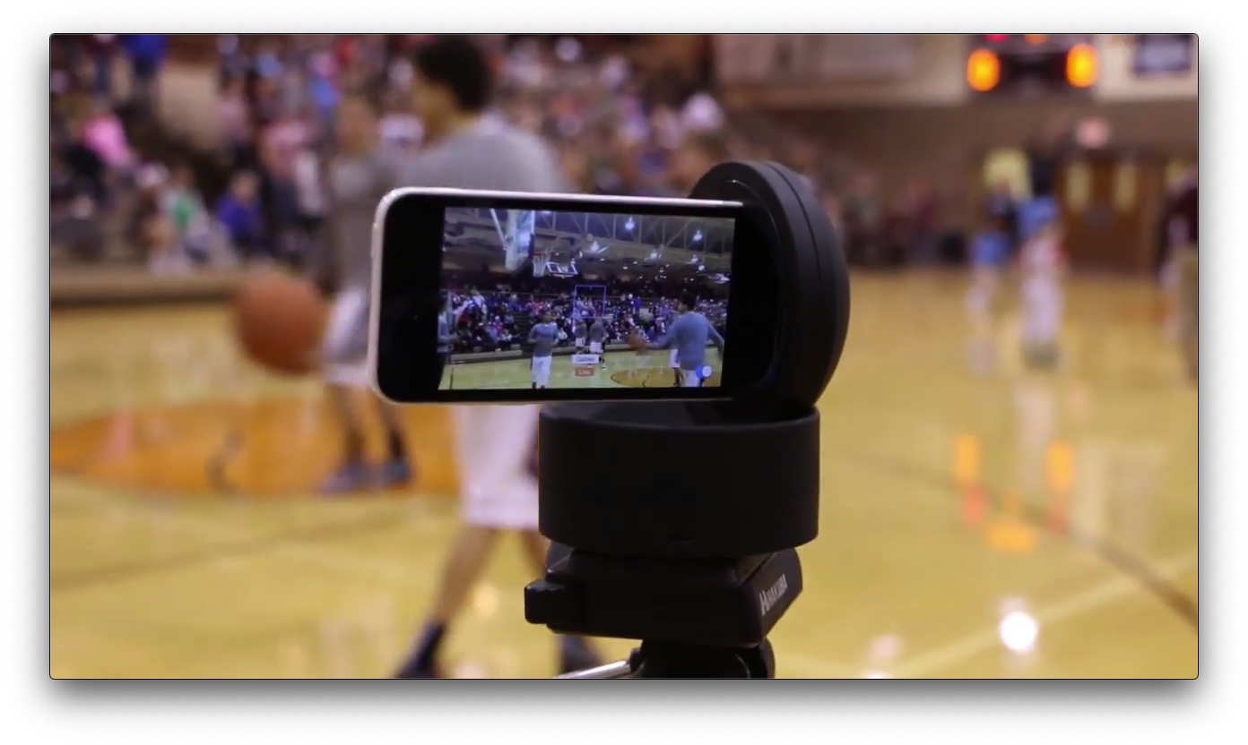 Switcher Studio in a local basketball game