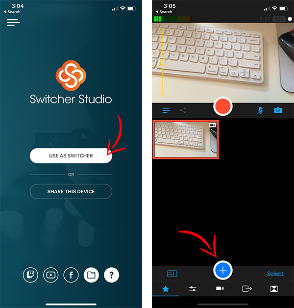 Using Switcher Studio to add a logo to a Facebook Live video