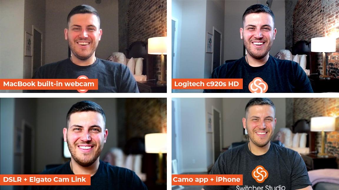 Comparison of 4 webcams