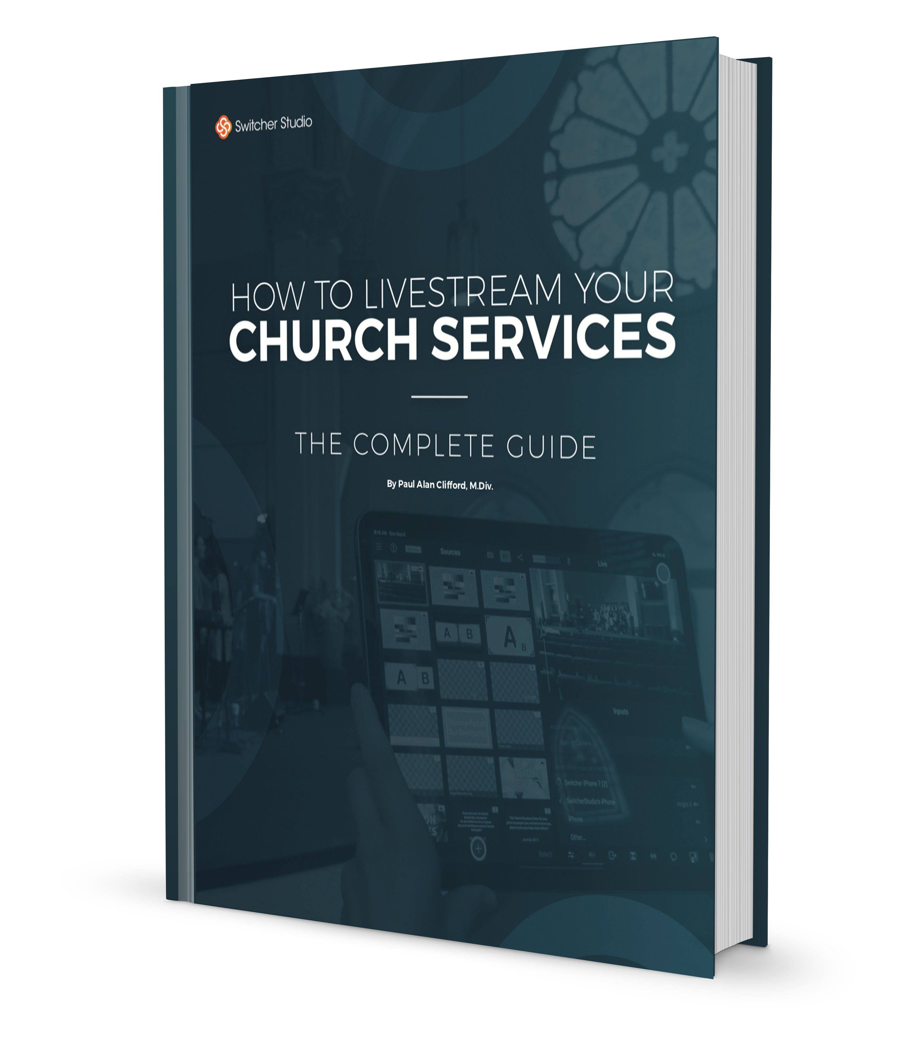 How to livestream your church services guide cover.