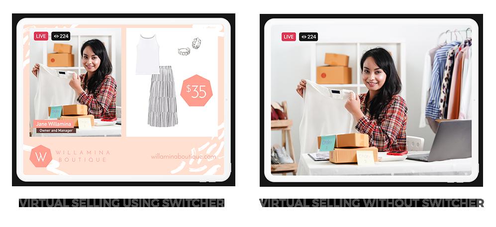 Virtual Selling Using Switcher